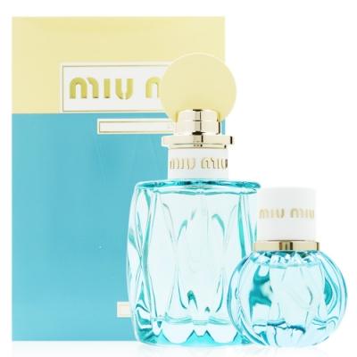 MIU MIU L'EAU BLEUE 春日花園禮盒組 (淡香精100ML+20ML)