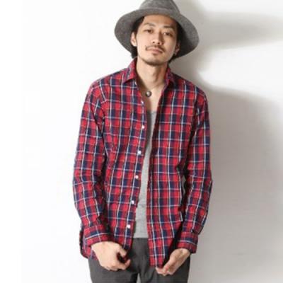 日本製中長版格紋棉質長袖襯衫(3色) ZIP日本男裝