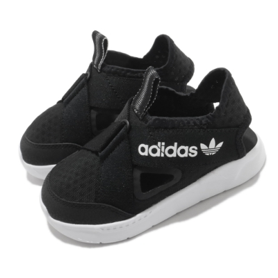 adidas 休閒鞋 360 Sandal I 套腳 童鞋 愛迪達 輕便 舒適 穿搭 涼鞋 小童 黑 白 FX4949