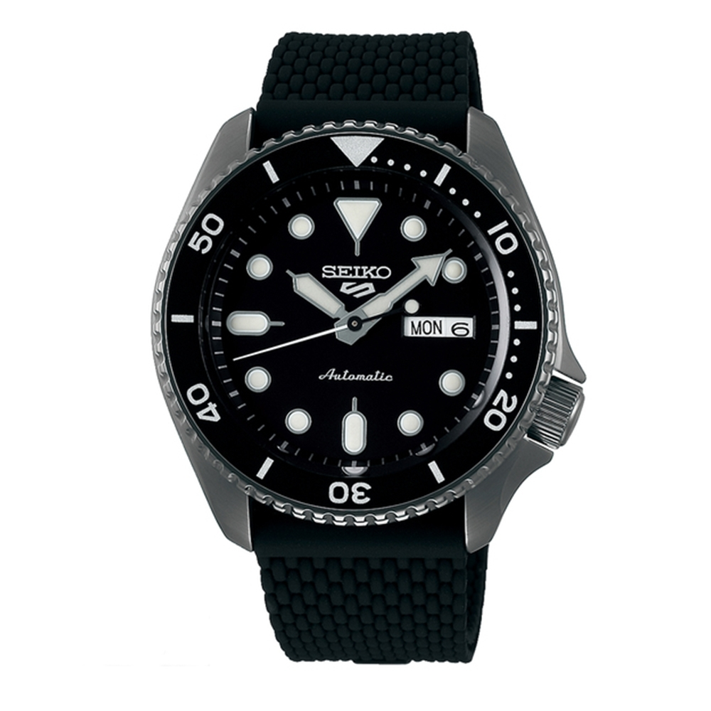 SEIKO 精工 5 Sports IP黑橡膠腕錶(SRPD65K2)x42.5mm