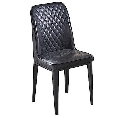 文創集 莫茲時尚皮革造型餐椅組合(二入組+二色可選)-47x48x93cm免組