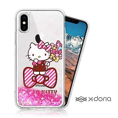 Hello Kitty iPhone Xs Max 亮片流沙手機軟殼 - 蝴蝶結