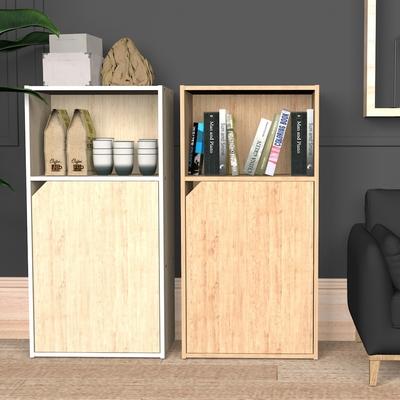 樂嫚妮 簡約一門三格櫃/收納櫃/層櫃-寬40深24高80cm-台灣製E1板材-(2色)