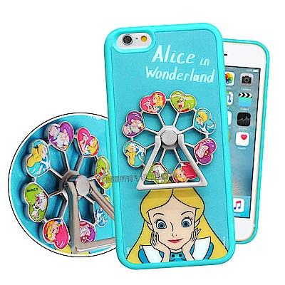 迪士尼 iPhone 6s Plus/6 Plus 摩天輪指環扣防滑支架手機殼(愛麗絲)