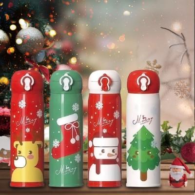 北歐聖誕彈蓋不銹鋼保溫瓶500ML