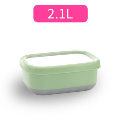 【佳工坊】長方型附蓋隔熱保鮮盒-XL號(2.1L)