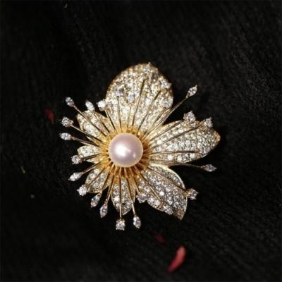 東方美學古典文藝春花爛漫芬芳淡水珍珠胸針吊墜兩用-設計所在