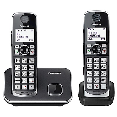 Panasonic國際牌 KX-TGE612TW DECT雙子機無線電話