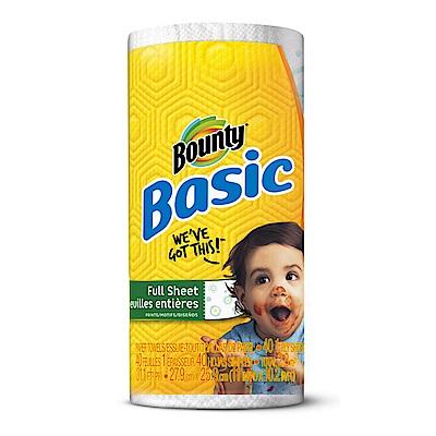 美國 Bounty Basic印花廚房紙巾(大尺寸40張)
