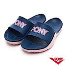 【PONY】輕量抗菌防臭防滑運動拖鞋 涼鞋 男鞋 女鞋 深藍