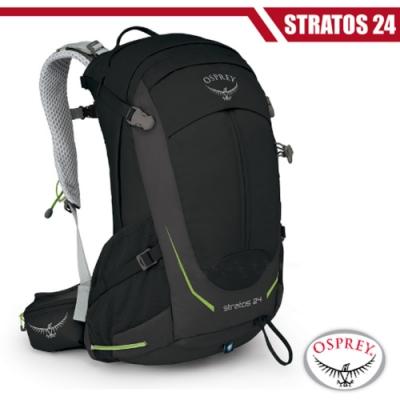 OSPREY 新款 Stratos 24 透氣立體網架健行背包_黑 R