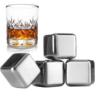 《VACU VIN》威士忌冰石4入(方2.5cm)