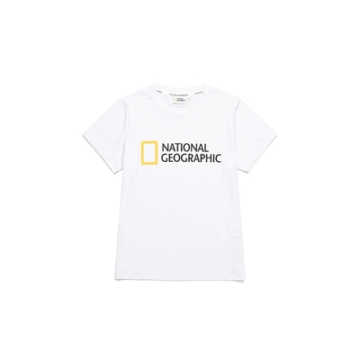 NATIONAL GEOGRAPHIC 女 W TRUTA BIG LOGO H/TEE 短袖T恤 白-N212WTS210010