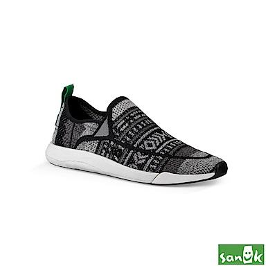 SANUK CHIBA QUEST KNIT編織圖騰拉環設計休閒鞋-中性款(黑灰色)