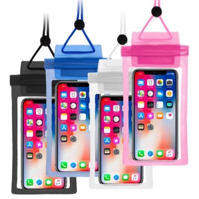 雙壓條捲式 透明觸控手機防水袋