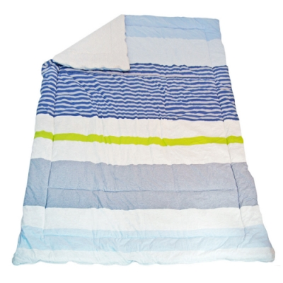 YVONNE COLLECTION 條紋四季被(單人5x7呎)-淺藍
