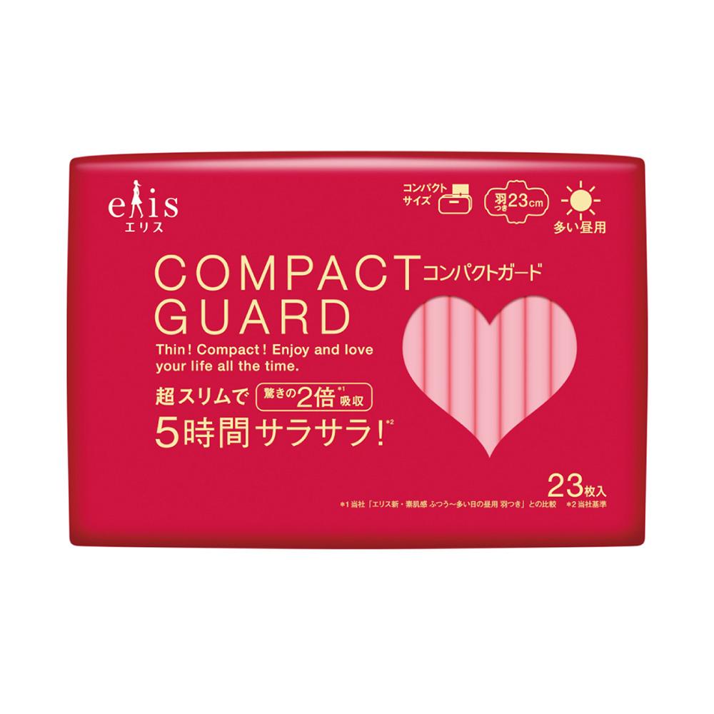 日本大王elis愛麗思COMPACT GUARD GO可愛日用超薄衛生棉 23cm (23片/包)