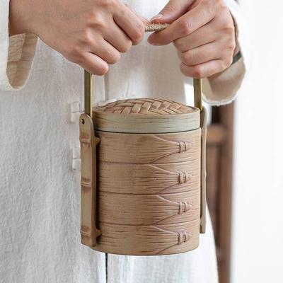【古緣居】創意蒸蒸日上陶瓷密封茶葉罐儲物罐(蒸籠款)