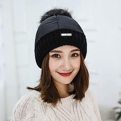 梨花HaNA-超級保暖雪地羽絨款加絨毛帽