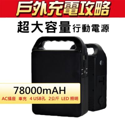 Suniwin攜帶式78000mAH超大容量行動電源PS288_戶外移動式UPS