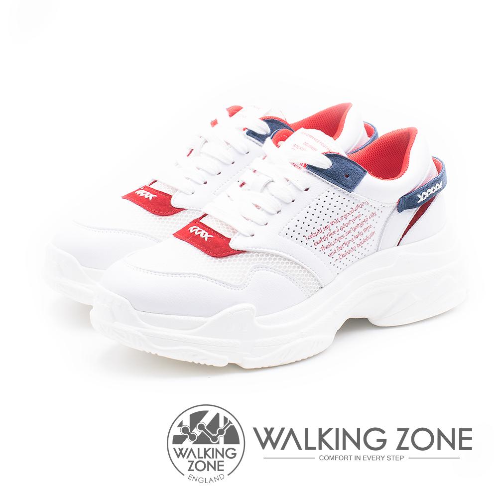 WALKING ZONE 運動休閒厚底老爹鞋 女鞋-白(另有黑)