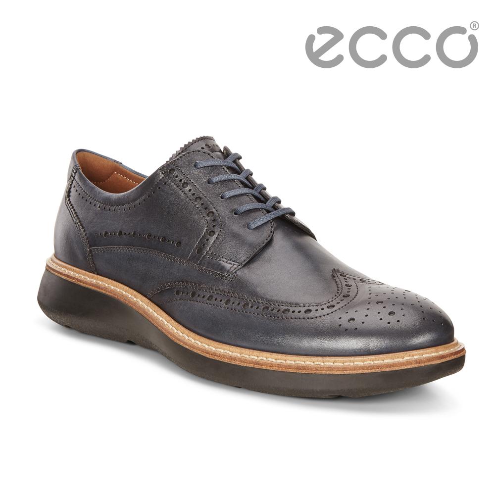 ECCO LHASA時尚雕花魅力風格紳士正裝鞋 男-藍