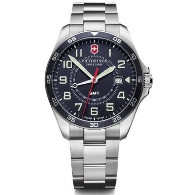 VICTORINOX 維氏 FieldForce系列 異地穿梭者 兩地時間腕錶 VISA-241896/42mm