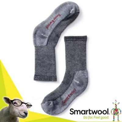 美國 SmartWool 美麗諾羊毛 孩童健行中級避震中長襪(2入)_海軍藍
