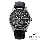 PARNIS BOX│多功能自動機械錶 紳士男錶 PA3115 PA3116 黑/白