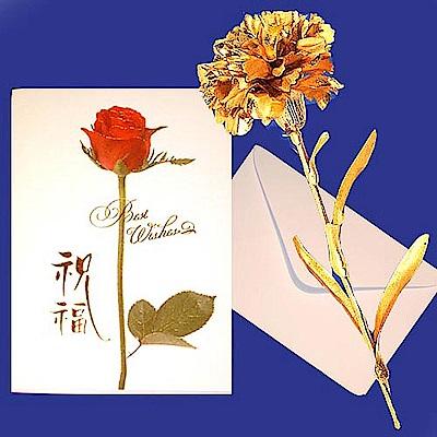 黃金金箔花康乃馨 母親節禮物