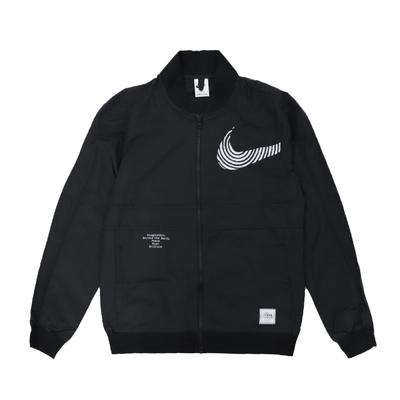 Nike 外套 NSW Woven Jacket 男款 棉質 塗鴉 運動休閒 雙拉鍊 黑 白 DM7900-010