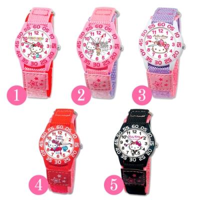 Sanrio三麗鷗自黏休閒織帶手錶33mm-Hello Kitty凱蒂貓(五款任選)