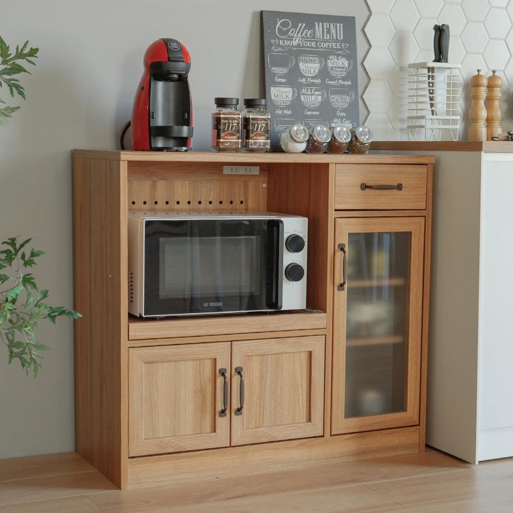 完美主義 三門兩抽廚房櫃/餐櫃/電器櫃/餐廚櫃(2色)