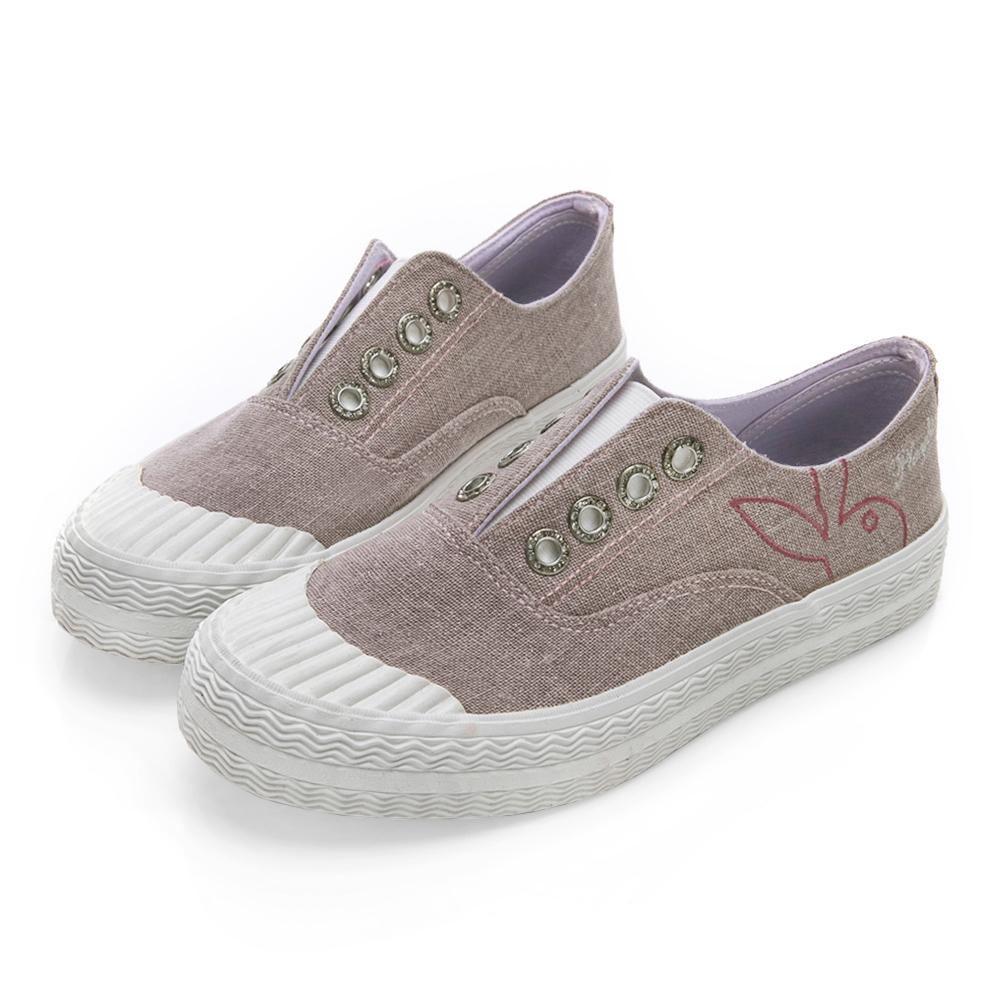 PLAYBOY韓系柔美 亮粉潮流時尚餅乾鞋-粉紫