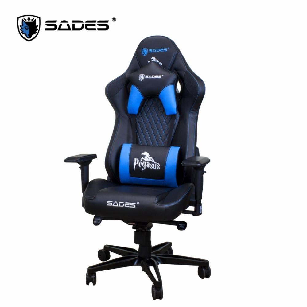 賽德斯 SADES DRACO 天馬座-黑白 人體工學電競椅 贈雷神耳機
