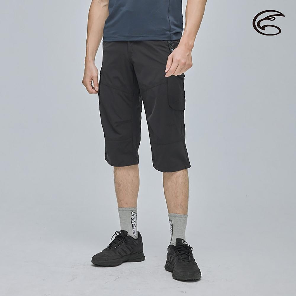 ADISI 男彈性快乾休閒七分褲(褲口可調節) AP2111007 橄欖黑