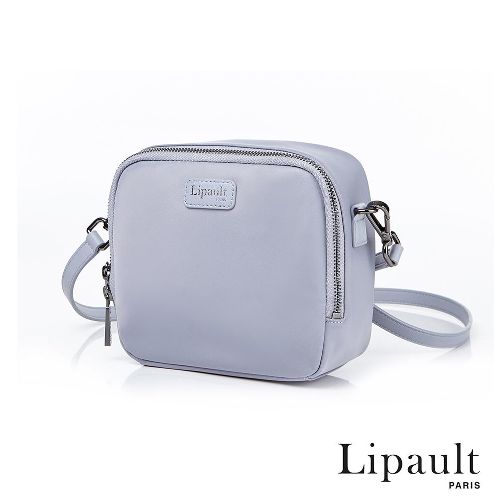 法國時尚Lipault Plume Basic迷你尼龍方形斜背包(銀灰色)