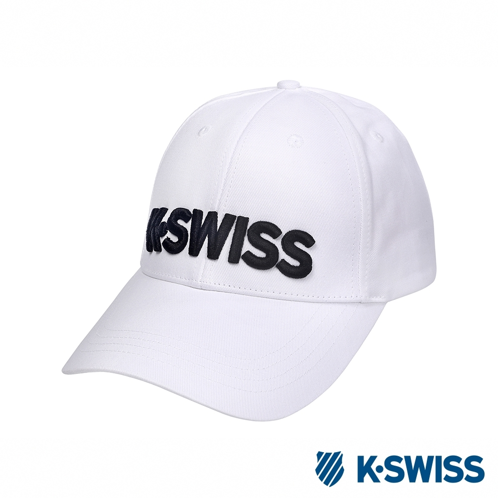 K-SWISS Basic 3D KS Logo Cap時尚棒球帽-白 product image 1