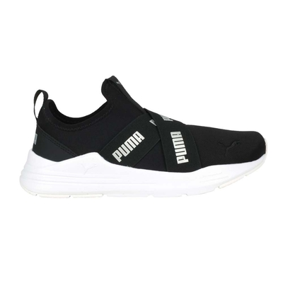 PUMA WIRED RUN SLIPON WMNS 女休閒鞋-慢跑 走路鞋 懶人鞋 38229901 黑銀