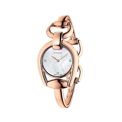 GUCCI Feminino時尚元素腕錶-金/28mm(YA139508)