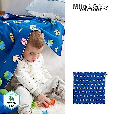 Milo& & Gabby 動物好朋友-雙面寶寶棉蓋毯(DYLAN花園)