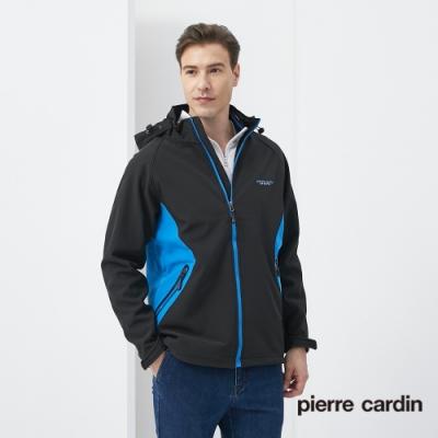 Pierre Cardin皮爾卡登 男裝 防風防潑水單層科技複合保暖外套-黑色(0155791-99)