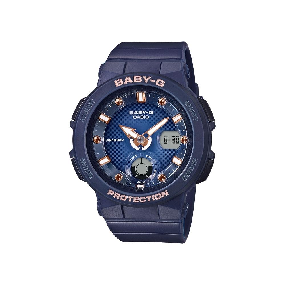 CASIO卡西歐 BABY-G 深藍夜空 霓虹照明 BGA-250-2A2_41mm