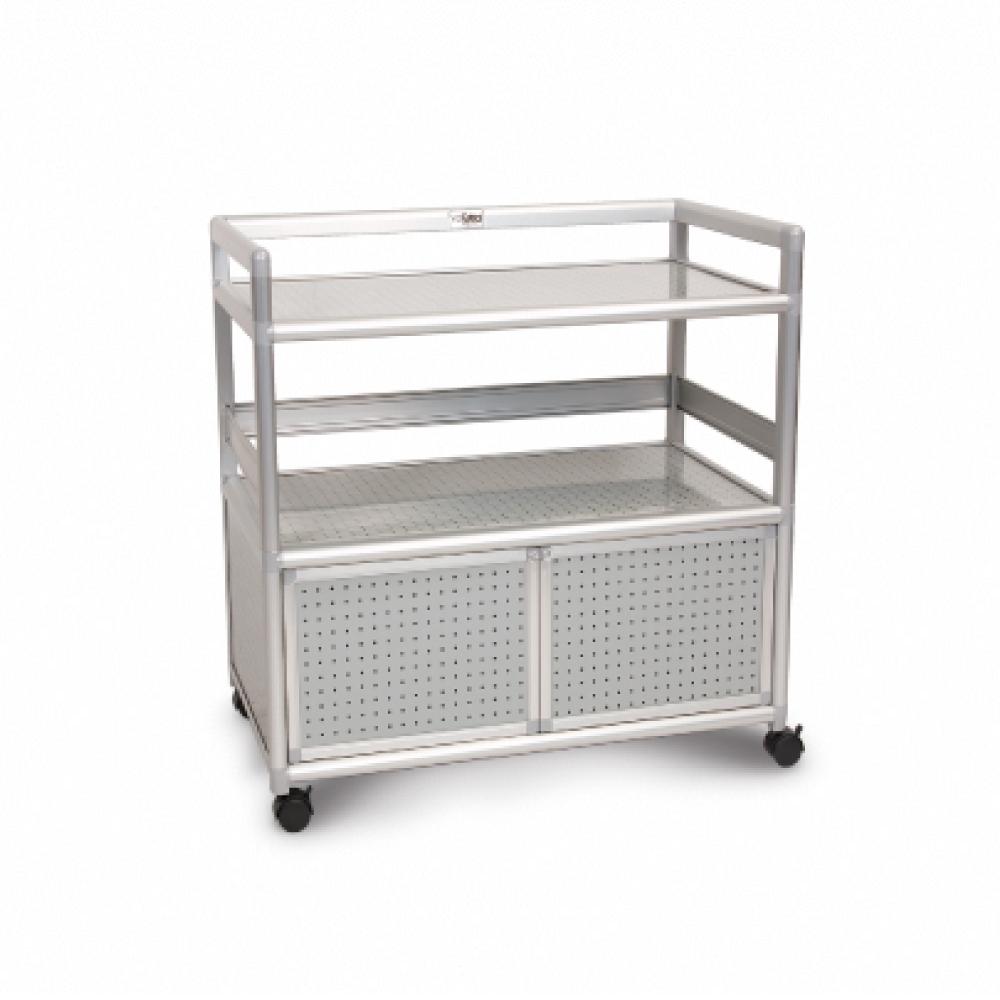 Cabini小飛象-黑花格得意2.5尺鋁合金餐櫃73.5x50.8x83.6cm