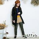 betty's貝蒂思 動物英文印花鬆緊長褲(深綠)