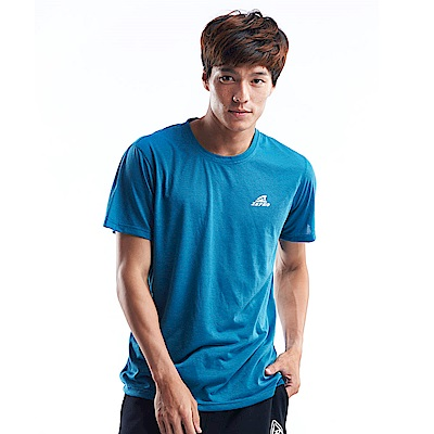 【ZEPRO】男子能量輕感透氣排汗短T-藍綠