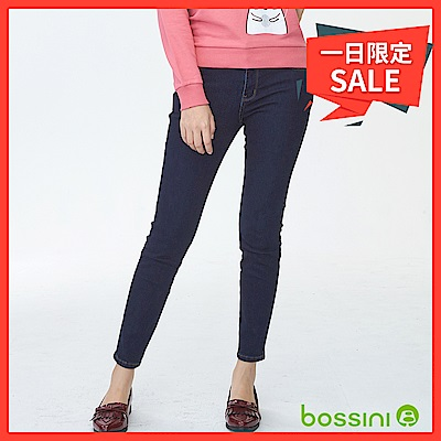 bossini女裝-保暖合身牛仔褲01霧靛藍