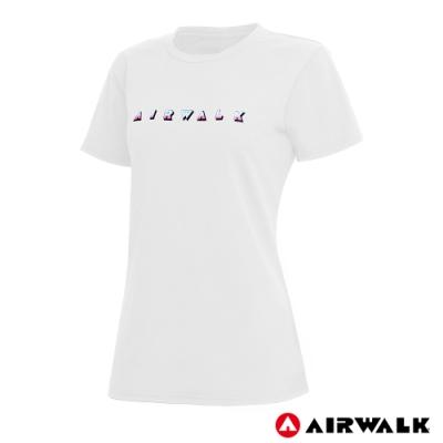 【AIRWALK】女款印花圖T-共兩色