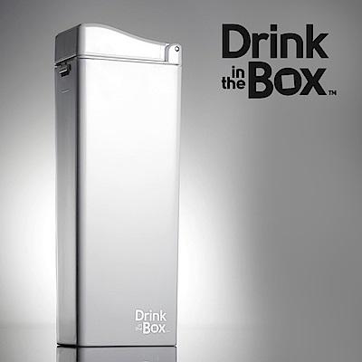 加拿大Drink in the box 兒童戶外方形吸管杯(大)-355ml-冰雪白