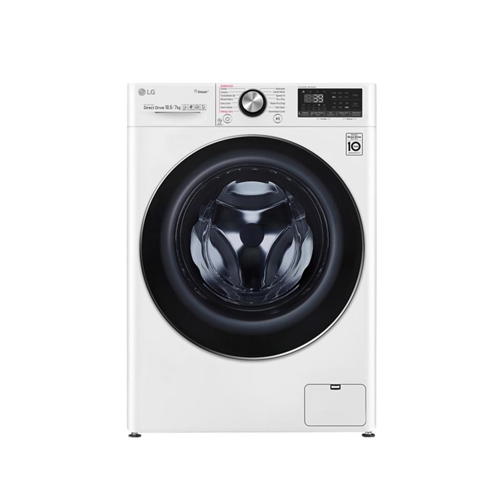 LG樂金 10.5KG+2KG TWINWash 蒸洗脫烘 滾筒洗衣機 WD-S105VDW 典雅白